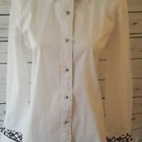 Tizzie white new NWOT Button Down Top Size S Small