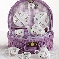 Delton Products Butterfly Tea Set