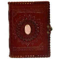 """5"""" x 7"""" Stone Embossed leather w/ latch  Book of Shadows"""