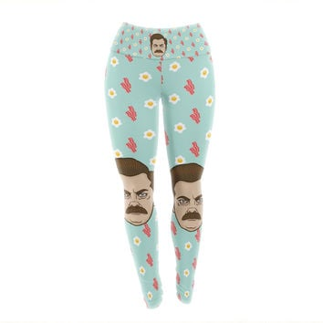 "Juan Paolo ""Give Me All Of The Bacon And Eggs"" Parks & Recreation Yoga Leggings"