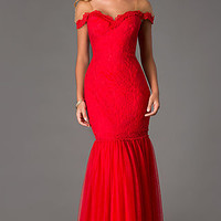 Floor Length Lace Dress by Swing Prom