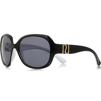 River Island Girls black oversized sunglasses