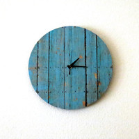 Cottage Chic Clock, Decor and Housewares, Wall Clock, Home and Living, Shabby Chic, Unique Clock,  Unique Gift