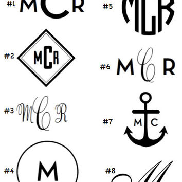 DECAL Personalized Monogram Decal Choose your size - water bottles camelbak apple laptop pc car window monogram name custom