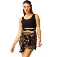 Faux Real Cheetah Fur Mini Skirt