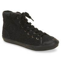 Womens Volatile Crocheted High-Top Sneakers