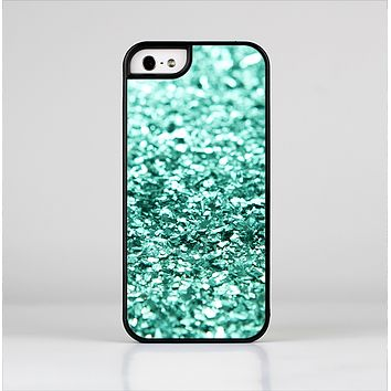 The Aqua Green Glimmer Skin-Sert for the Apple iPhone 5-5s Skin-Sert Case