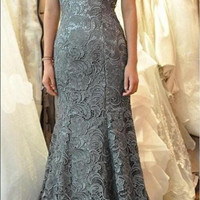 High Neck 2017 Christmas Long Prom Dresses Cheap Grey Red With Lace Backless Open Back Gowns Sexy Formal Party 2016