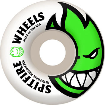 Spitfire Bighead 53mm White/Green Skate Wheels