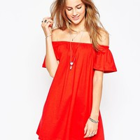 ASOS | ASOS Gypsy Off Shoulder Mini Dress at ASOS
