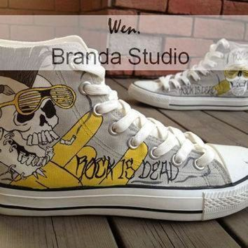 ICIKGQ8 rock style skull design studio hand painted shoes 51 99usd paint on custom converse s