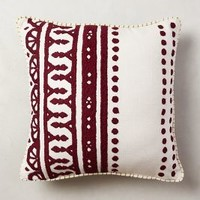 Embroidered Agra Pillow by Anthropologie