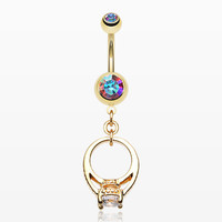 Golden Promise Belly Button Ring