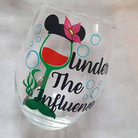 Disney Wine Glass, The Little Mermaid, Disney Tumbler, Glitter Tumbler, Under The Influence, Food And Wine Festival