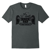 Mens Biker Dad T-shirt Like A Normal Dad Only Cooler Motorcycles