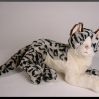 Silverado Spotted Stuffed Cats by Piutre, Italy. World's Largest Source of Luxury Handmade Plush Lifesize Large and Lifelike Stuffed Animals