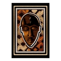 African Serenity Mask Poster