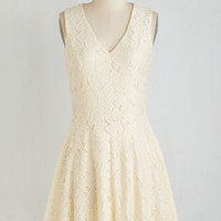 Mid-length Sleeveless A-line Biscotti My Attention Dress by ModCloth