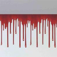 Dripping Blood Border 20'x 1.5