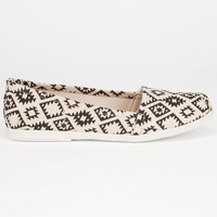 Soda Tribal Print Womens Slip-On Shoes Natural/Black  In Sizes
