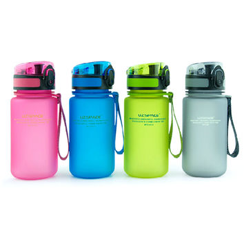 2016 My Children's Favorite Water Bottle Plastic (350ml) BPA FREE Portable Cup With Flip Cap Lid For Kids School Sports
