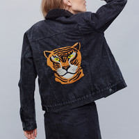 Free People Denim Tiger Jacket