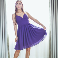 Give It A Glance Dress in Purple