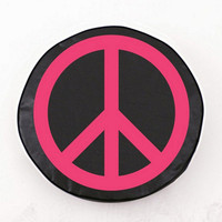 Holland Bar Stool Pink Peace Sign Tire Cover