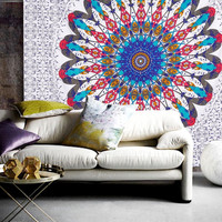 The Kendall Boho Bohemian Mandala Wall Bed Tapestry