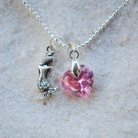 Mermaid Pink Heart Necklace