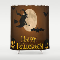 HAPPY HALLOWEEN Shower Curtain by Acus