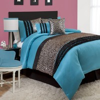 Lush Decor Kenya Comforter Set (Blue)