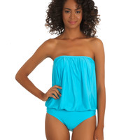 2014 Athena Bandeau | One Piece Bathing Suit | Modest Swimwear