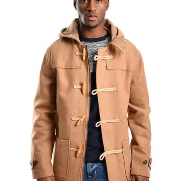 "Bellfield ""Tacoma"" Wool Blend Duffle Coat - Camel"