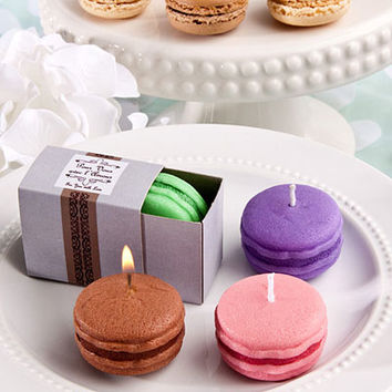 Trendy Macaroon Favor Candles