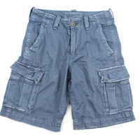 American Eagle Blue Classic Length Cargo Shorts - Mens 26 Inch Waist