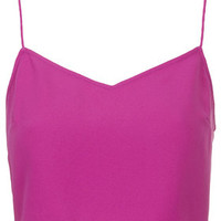 Crepe Crop Top by Boutique - Bright Pink