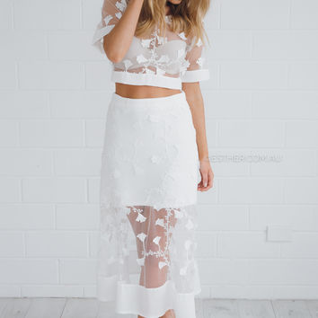 delilah lace two piece - ivory