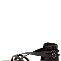 Blowfish Delray Black Relax Strappy Gladiator Sandals
