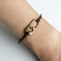 Heart Lock bracelet (24 colors)