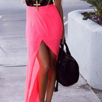 Fashion Chiffon Split Dress