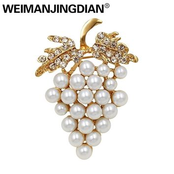 Simulated Pearl Grape Brooch Pins for Women Assorted Imitation P 2adf7a183b12