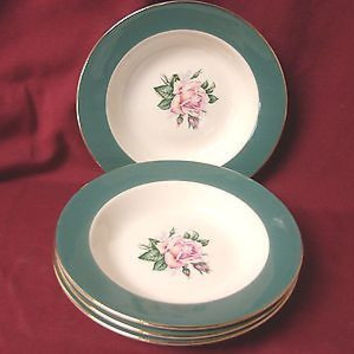 Lifetime China Dinnerware Homer Laughlin Eggshell Cavalier Cameo 4 Soup Bowl