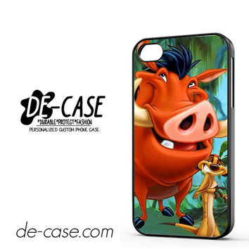 Timon And Pumba DEAL-11255 Apple Phonecase Cover For Iphone 4 / Iphone 4S
