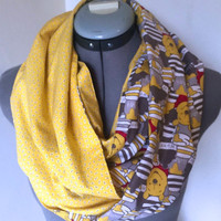 Disney Winnie the Pooh Honey Pot Infinity Scarf, Circle Scarf, Bee, Stripes, Disneyland Accessory, Present, Gift