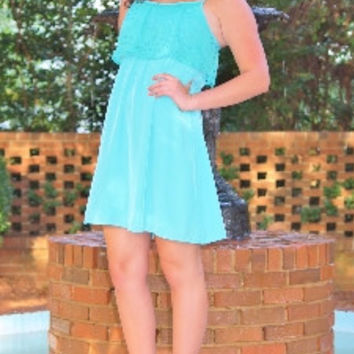 Mint Eyelet Sundress