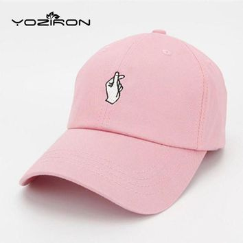 LMFON Fashion Cotton Hand ROSE OK Love Gestures Finger Snapback Hats Baseball Caps For Men W