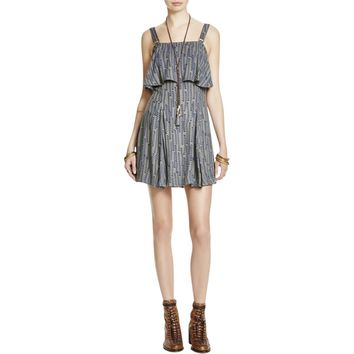Free People Womens Paper Flowers Printed Popover Casual Dress