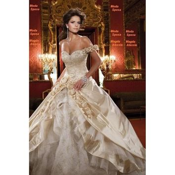 Champagne Luxury Wedding Dress