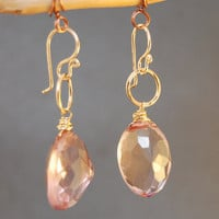 Rose Quartz Earrings Victorian 244